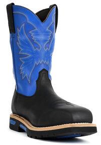 """Cinch® WRX Men's Waterproof 10"""" Work Boots - Steel Toe, Black, hi-res"""