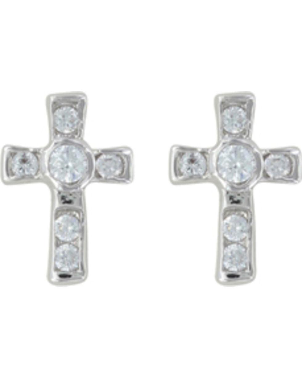 Montana Silversmiths A Mark of Faith Earrings, Silver, hi-res