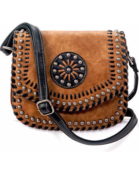 Blazin Roxx Women's Western Vanessa Conceal Carry Messenger Bag, Brown, hi-res