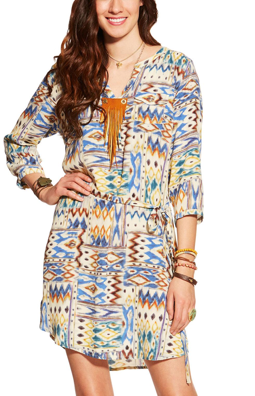 Ariat Women's Dyna Crepe Print Dress, Multi, hi-res