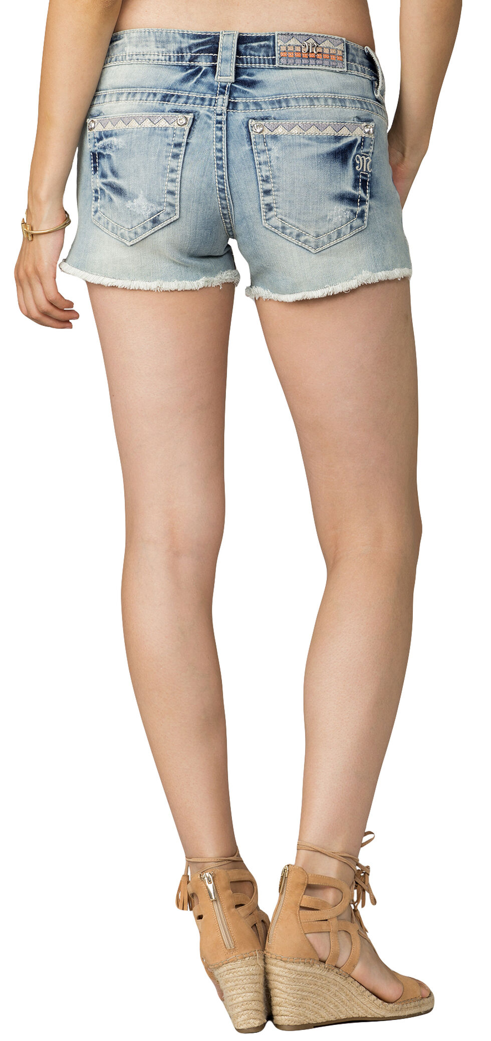 Miss Me Women's Living The Dream Mid-Rise Shorts, Indigo, hi-res