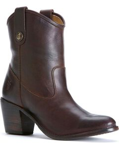 Frye Women's Jackie Button Short Boots - Round Toe, Chocolate, hi-res