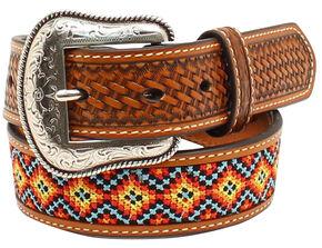 Nocona Boys' Embroidered Belt, Tan, hi-res