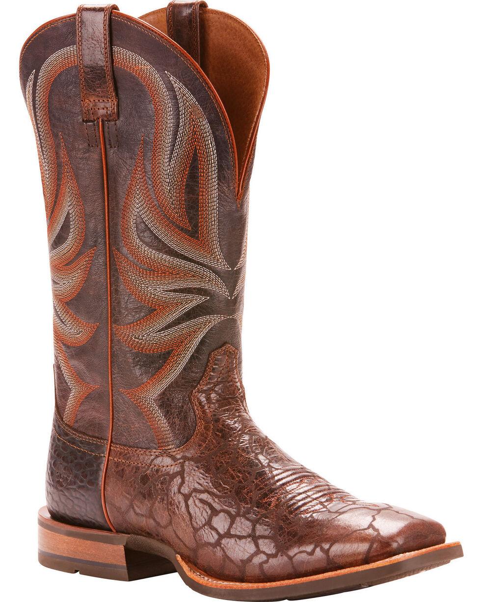 Ariat Men's Range Boss Wildhorse Chocolate Cowboy Boots - Square Toe, Chocolate, hi-res