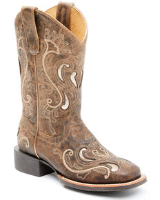 Shyanne Women's Melody Western Boots - Wide Square Toe, Tan, hi-res