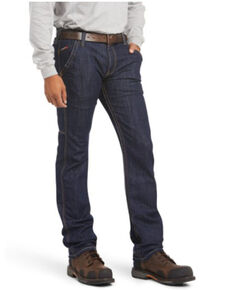 Ariat Men's FR M7 Durastretch Workhouse Slim Straight Work Jeans, Indigo, hi-res