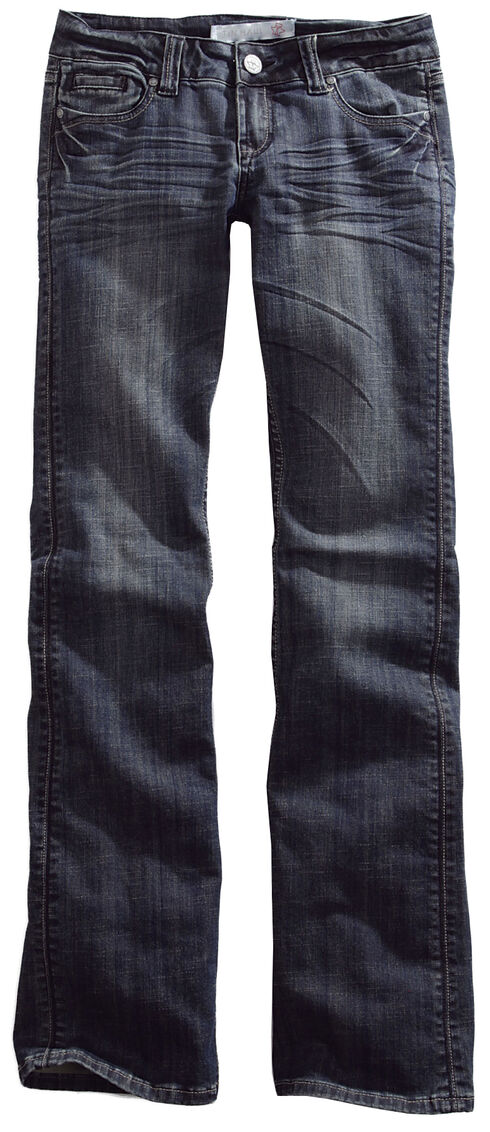 Tin Haul Women's Dolly Celebrity Deco Loop Stitch Bootcut Jeans, Denim, hi-res