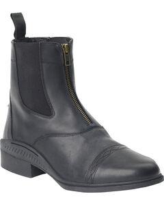 Ovation Women's Aeros Elite Zip Paddock Boots, Black, hi-res