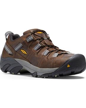 Keen Men's Detroit Low ESD Work Shoes - Steel Toe, Dark Brown, hi-res