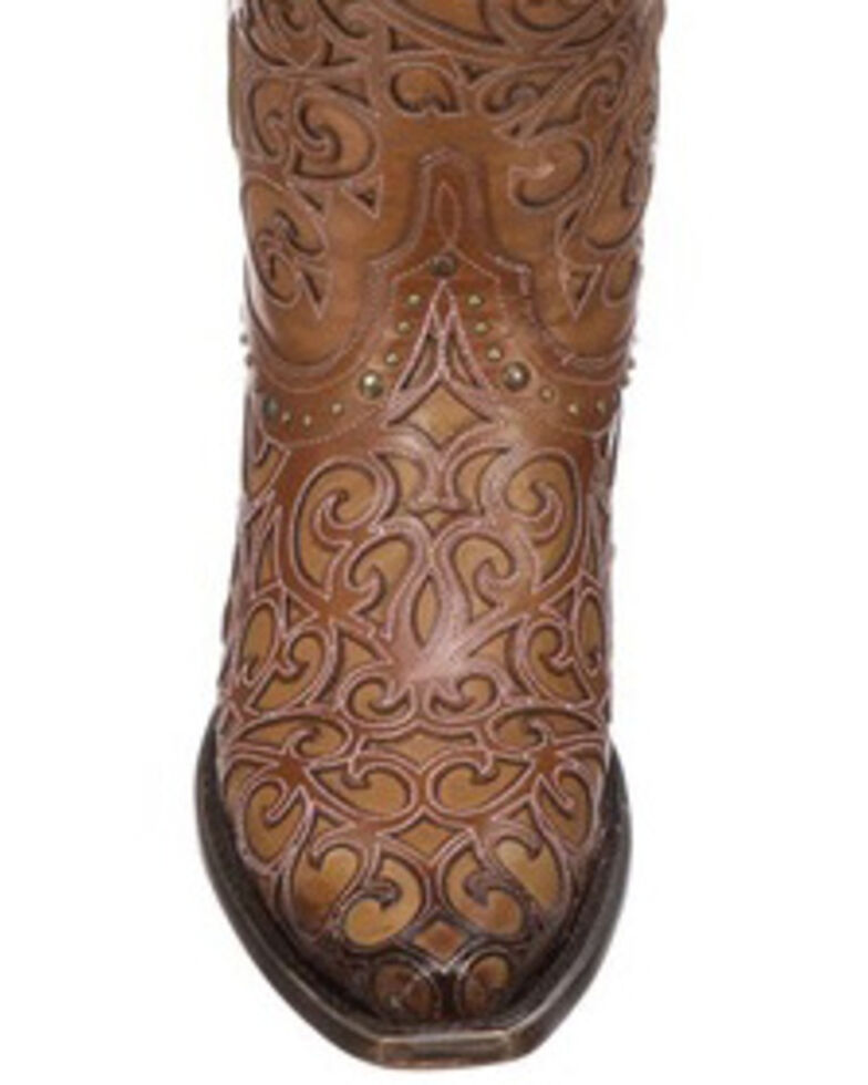 Lucchese Handmade 1883 Women's Sierra Cowgirl Boots - Snip Toe, Tan, hi-res