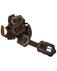 Roper Women's Slider Concho Belt, Brown, hi-res
