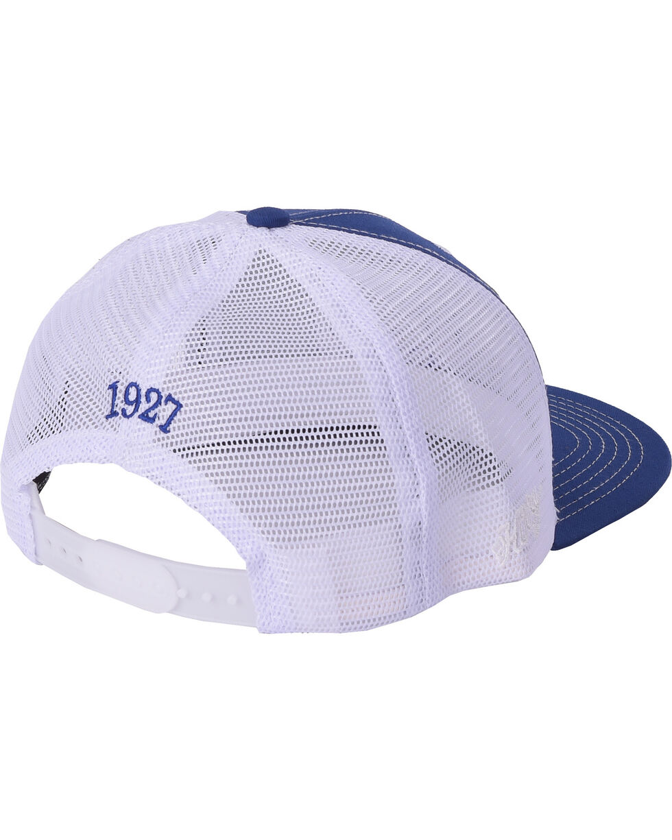 Resistol Men's Blue/White Mesh Back Patch Cap, Blue, hi-res