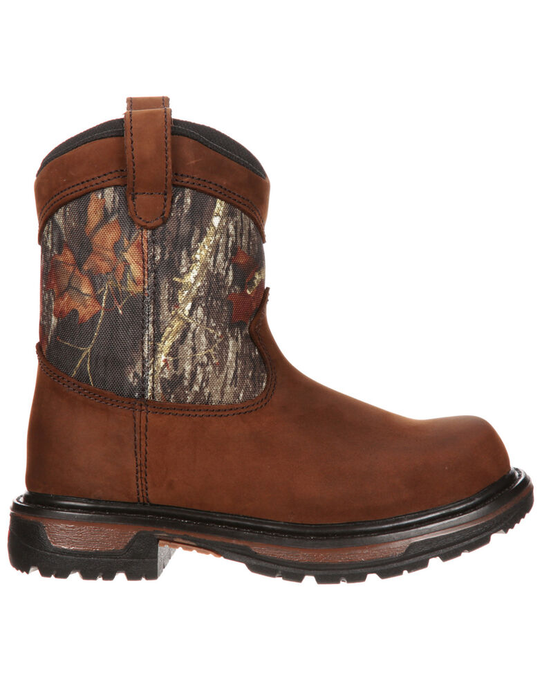 Rocky Youth Kids' Ride Wellington Waterproof Boots, Brown, hi-res