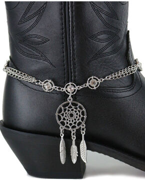 Shyanne Women's Silver Dream Catcher Boot Bracelet , Silver, hi-res