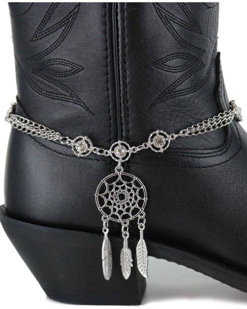 Shyanne Women's Silver Dream Catcher Boot Bracelet , Silver, hi-res