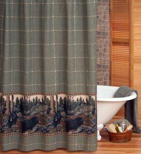 Blue Ridge Trading Bears Shower Curtain, Black, hi-res