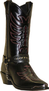 Sage by Abilene Men's Scorpion Harness Boots, Black, hi-res