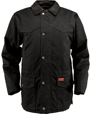Outback Trading Co. Oilskin Rancher Jacket, Black, hi-res