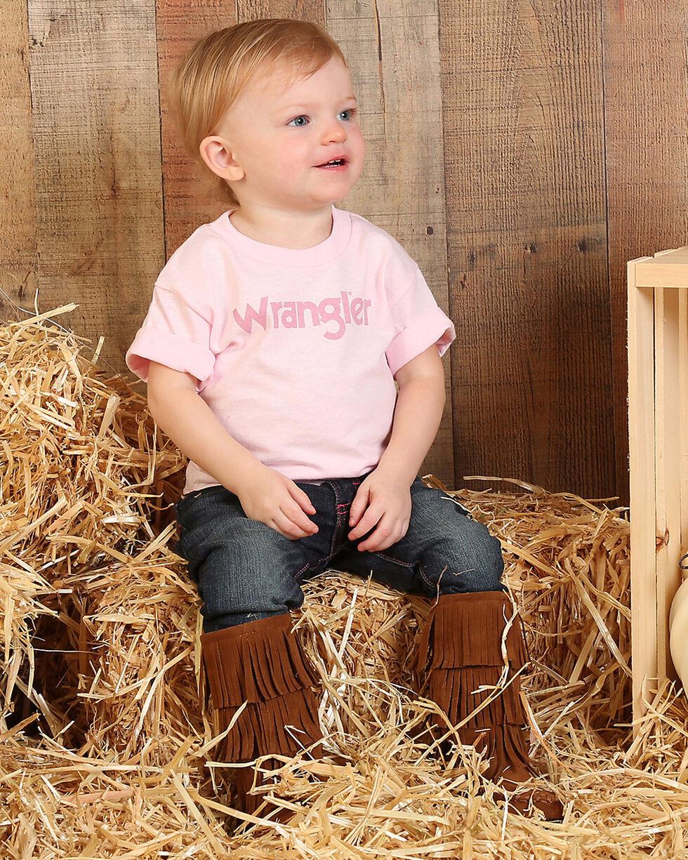 Wrangler Toddler Girls' Pink Short Sleeve Logo T-Shirt , Pink, hi-res