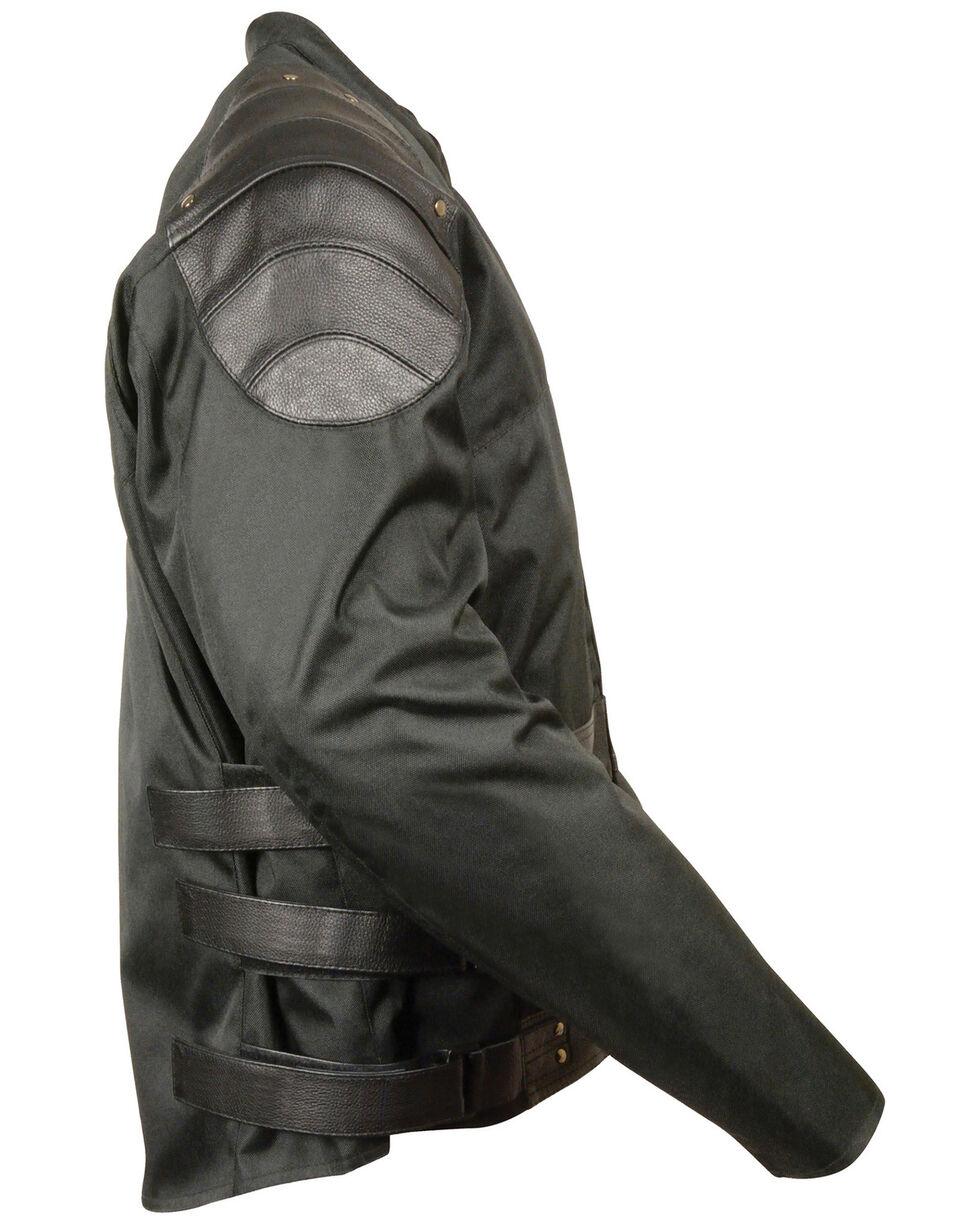 Milwaukee Leather Men's Assault Style Leather/Textile Racer Jacket, Black, hi-res