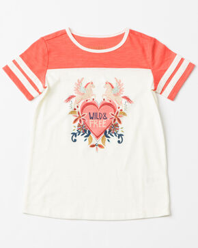 Shyanne Girls' Wild & Free Jersey T-Shirt, White, hi-res