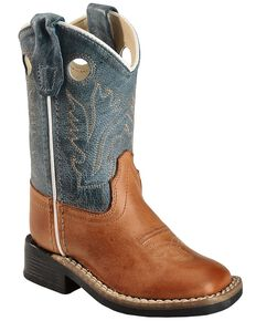 Old West Toddler Boys' Barnwood Cowboy Boots - Square Toe, Barnwood, hi-res