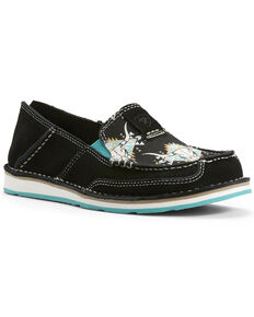 Ariat Women's Steer Head Cruiser Shoes - Moc Toe, Black, hi-res