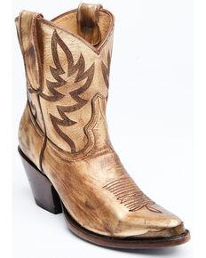 Idyllwind Women's Wheels Gold Western Booties - Snip Toe, Gold, hi-res