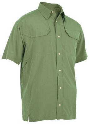 Tru-Spec Men's 24-7 Cool Camp Shirt, Olive, hi-res