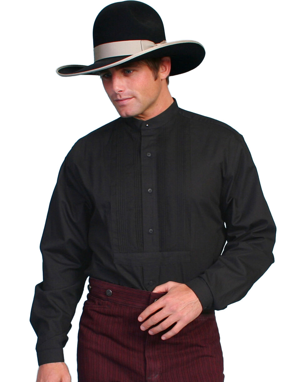 Wahmaker Old West by Scully Gambler Shirt - Big and Tall, Black, hi-res