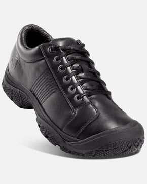 Keen Men's PTC Oxford Work Shoes - Round Toe, Black, hi-res