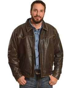 Cripple Creek Men's Brown 90 Antique Leather Jacket , Brown, hi-res