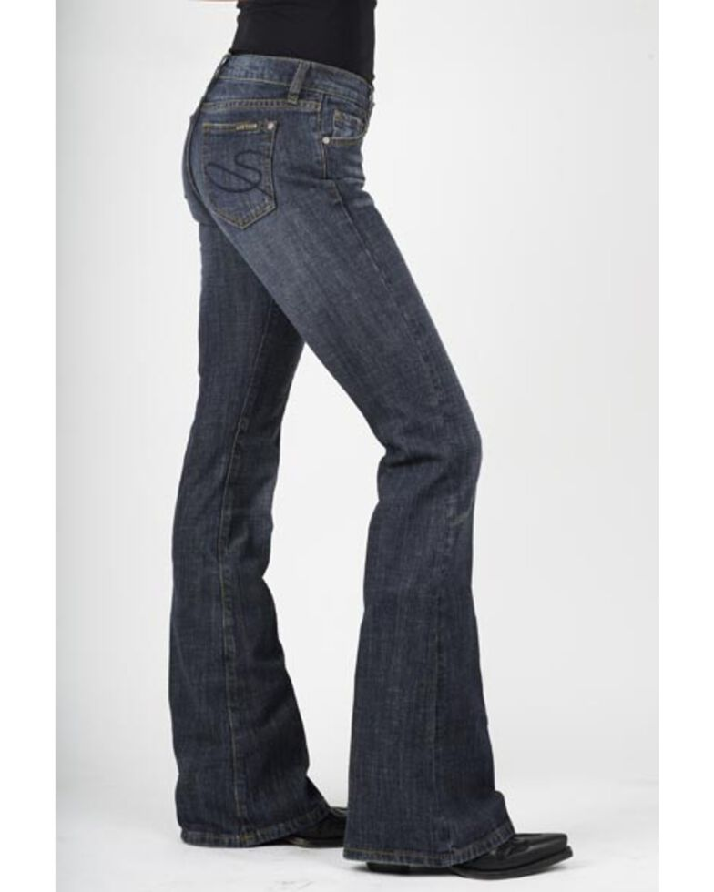 Stetson Women's 816 Classic Dark Wash Boot Cut Jeans, Med Wash, hi-res