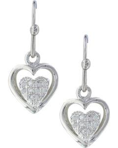 Montana Silversmiths Women's Pulsing Heart Earrings , Silver, hi-res