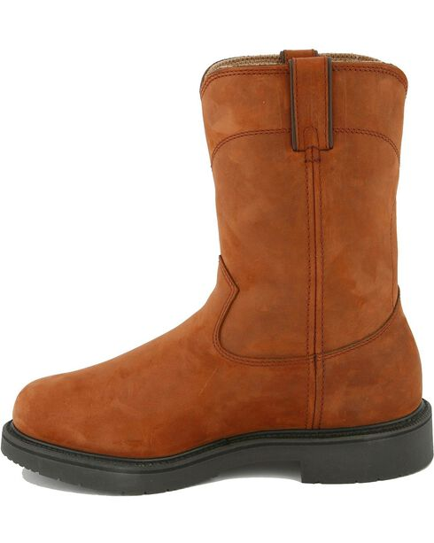 Justin Pull-On Waterproof Work Boots - Round Toe, Aged Bark, hi-res