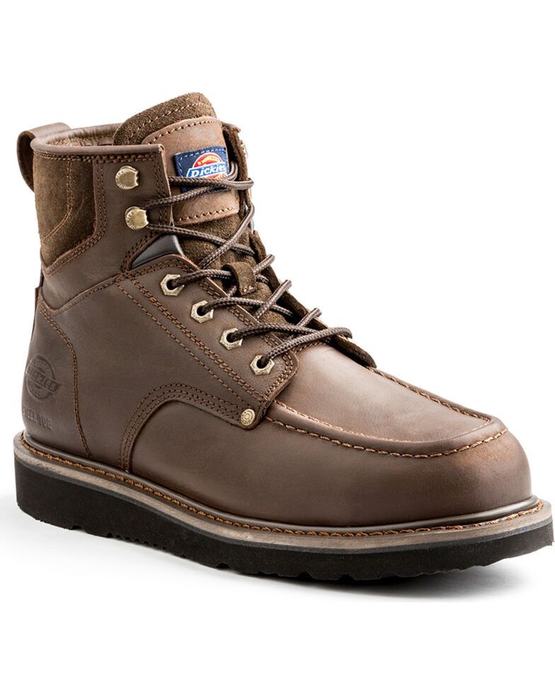 "Dickies Men's Brown Outpost 6"" Work Boots - Steel Toe, Brown, hi-res"