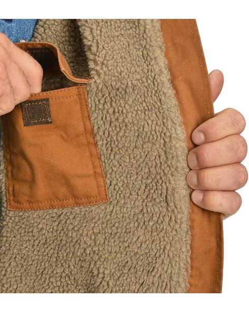 Exclusive Gibson Trading Co. Sherpa Lined Canvas Work Jacket, Brown, hi-res