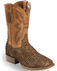 Dan Post Men's Chocolate Sea Bass Stockman Boots - Square Toe, Chocolate, hi-res
