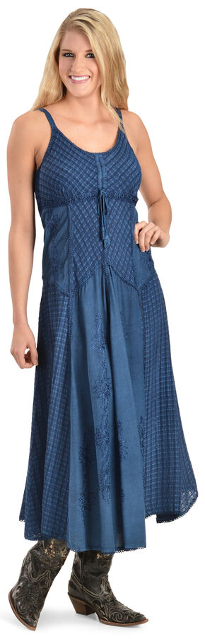 Scully Long Maxi Dress, Blue, hi-res