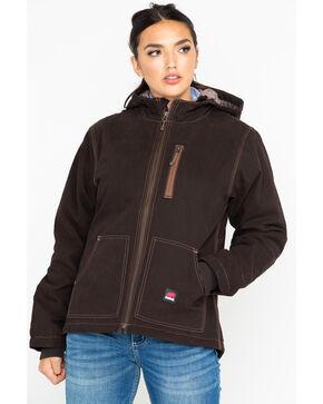 Berne Women's Duck Modern Work Jacket , Dark Brown, hi-res
