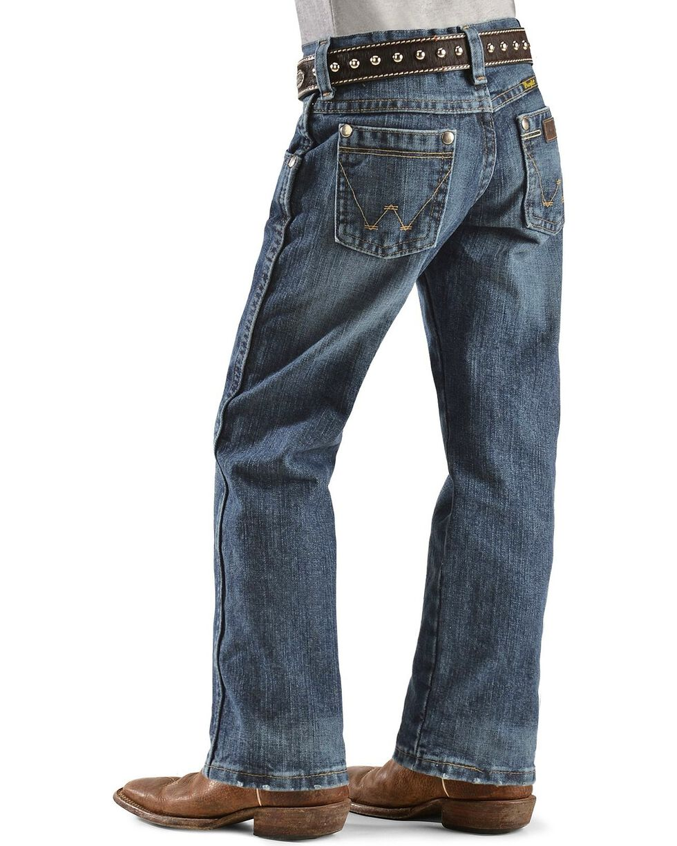 Wrangler Boys' Retro Relaxed Fit Straight Leg Jeans - 4-7, Denim, hi-res