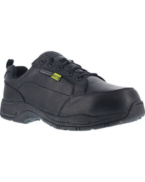 Rockport Men's Prompter Met Guard Oxford Shoes - Composite Toe , Black, hi-res