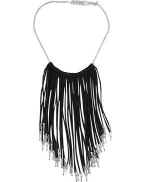 Shyanne Women's Fringe Necklace, Black, hi-res
