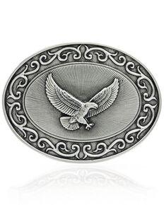 Montana Silversmiths Ready For Action American Eagle Attitude Buckle, Silver, hi-res