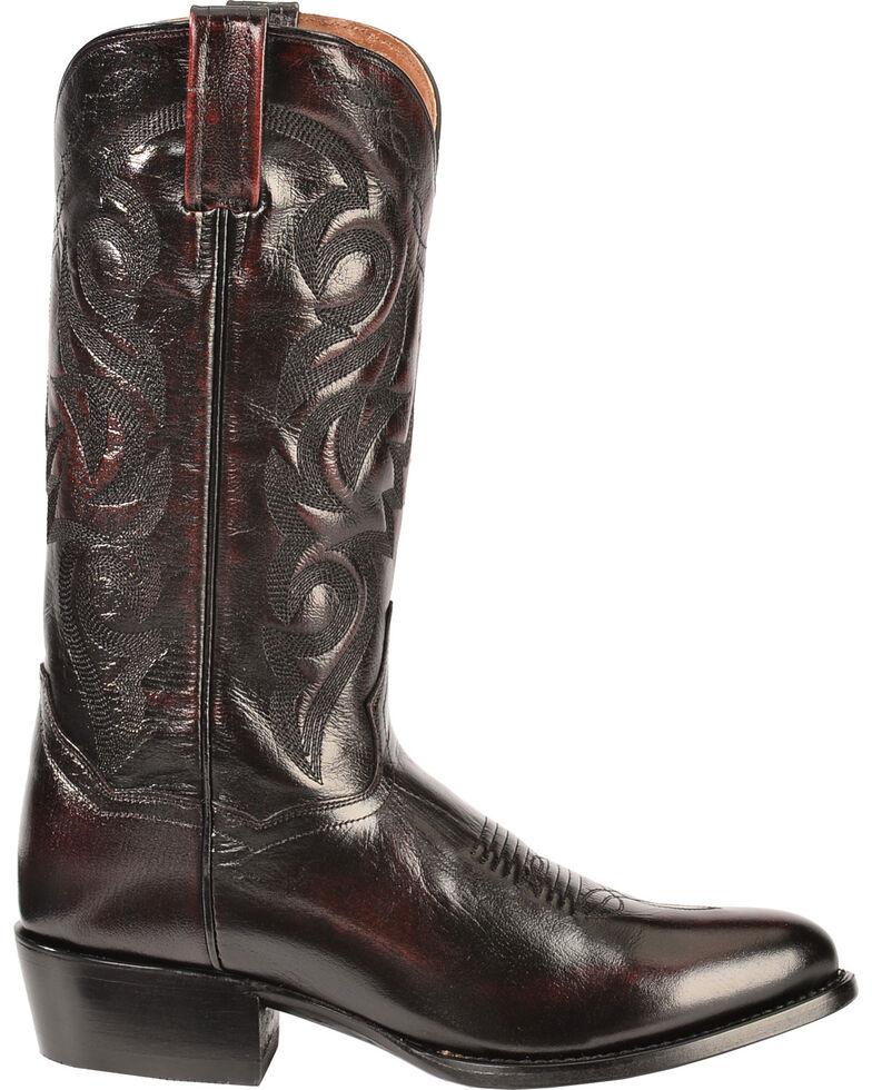 Dan Post Men's Mignon Leather Cowboy Boots - Medium Toe, Black Cherry, hi-res