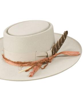 Stetson Men's Kings Row Royal DeLuxe Felt Hat, Light Grey, hi-res