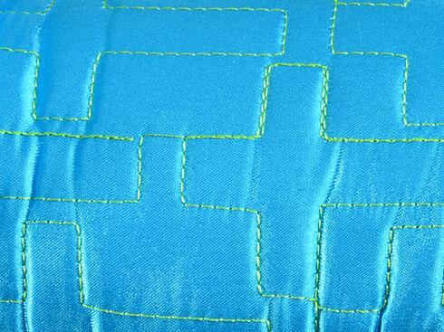 Blazin Roxx Women's Quilted Cross Slipper Booties, Turquoise, hi-res