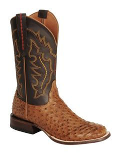 Lucchese Handcrafted 1883 Full Quill Ostrich Horseman Cowboy Boots - Square Toe, , hi-res