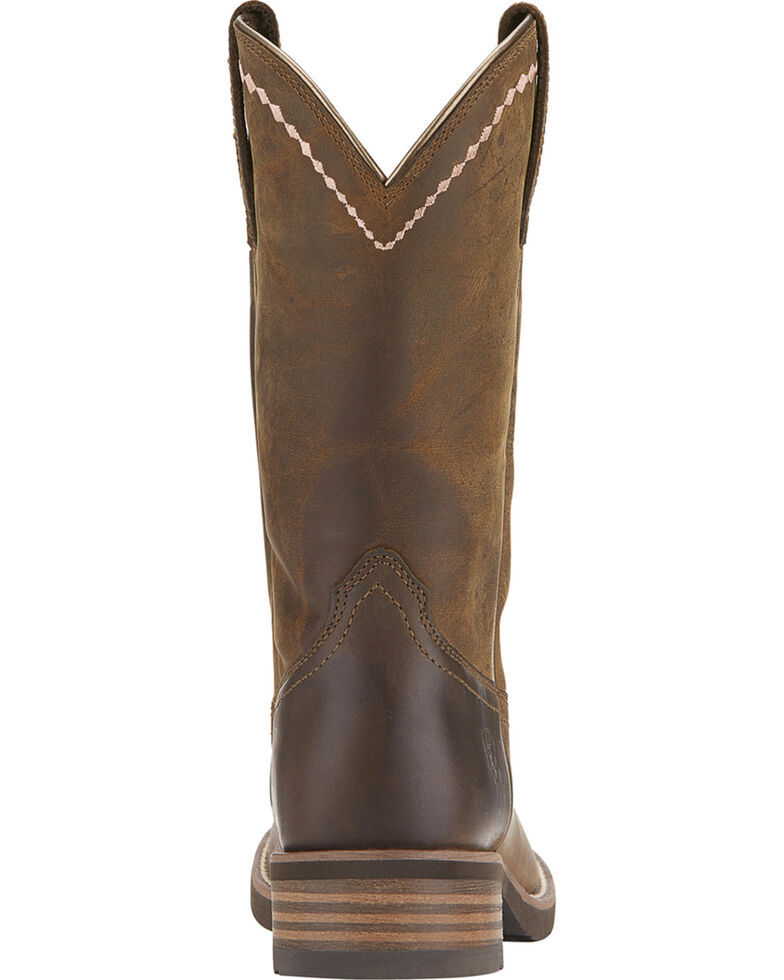 Ariat Women's Unbridled Roper Boots - Round Toe, Dark Brown, hi-res