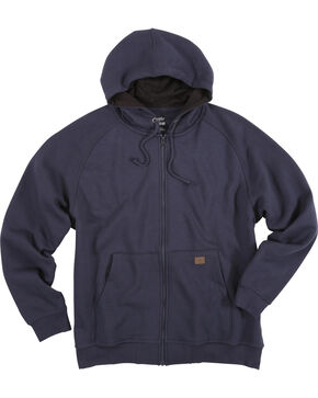 Wrangler Men's Navy Riggs Workwear Full Zip Hoodie, Navy, hi-res